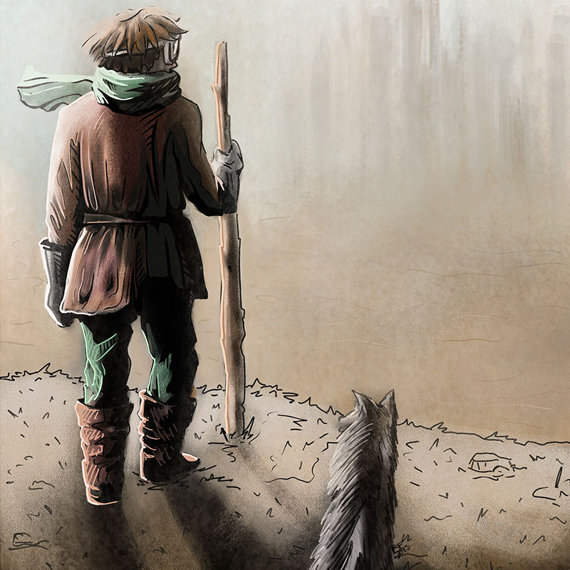 Terminado el borrador de El nómada de Ággar